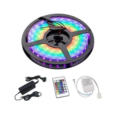 LUCES LED TIRA 5mts RGB 5050 COLORES c/CONTROL
