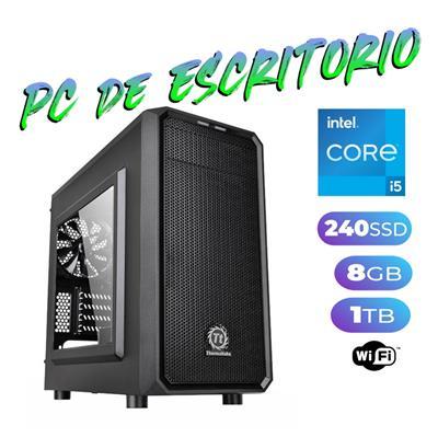 PC DE ESCRITORIO INTEL i5 - 8GB - DISCO SOLIDO 240GB - GEFORCE GT1030 2GB DDR5 LP - GABINETE KIT - F