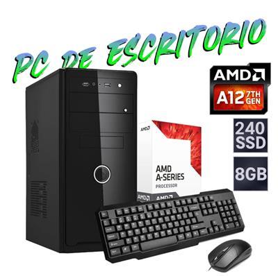 PC DE ESCRITORIO AMD - A10 9700 - 4GB - DISCO SOLIDO 120GB - GABINETE KIT - FREEDOS