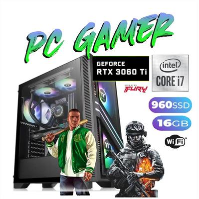 PC GAMER INTEL i7-9700K- 8GB - DISCO SOLIDO 480GB - GEFORCE GTX 1660 TI 6GB DDR6- GABINETE CORSAIR -