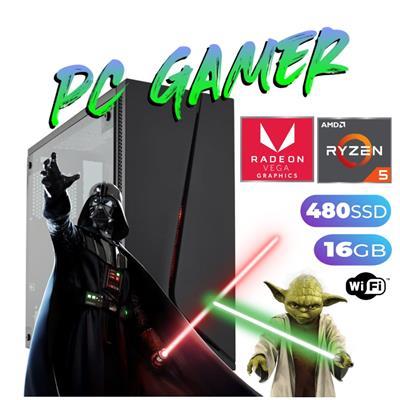 PC GAMER AMD RYZEN 5-5600X - 16GB RGB - DISCO SOLIDO 500GB - GEFORCE GTX 1050TI - FREEDOS