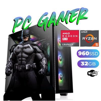 PC GAMER AMD RYZEN 3-3200G- 8GB - DISCO SOLIDO 480GB - GEFORCE GTX 1660 TI - GABINETE THERMALTAKE -