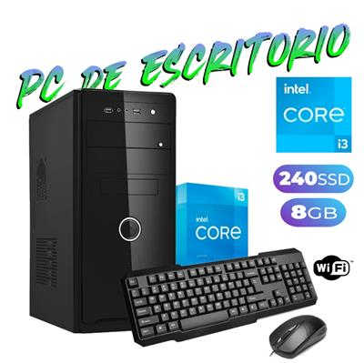 PC DE ESCRITORIO INTEL i3-10100  - 8GB - DISCO SOL