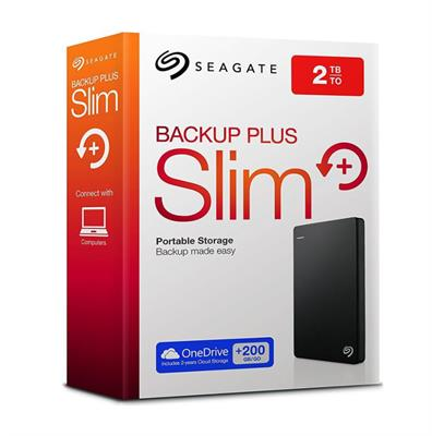DISCO RIGIDO EXTERNO 2TB SEAGATE SLIM BACKUP PLUS