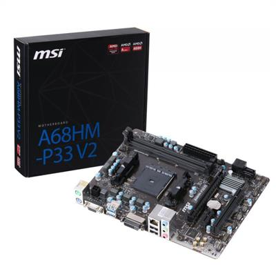 MOTHERBOARD MSI A68HM-E33 V2 P/ AMD (FM2)