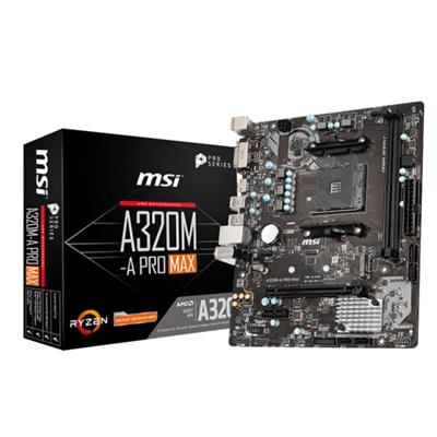 MOTHERBOARD MSI A320M-A PRO MAX (SIN VGA) (AM4)