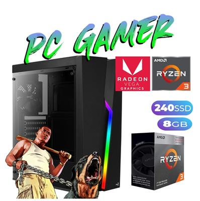 PC GAMER AMD RYZEN 3 3200GE - 8GB - SSD240GB - FRE