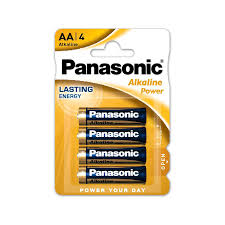 PILAS ALKALINE PANASONIC AA X 4 UNID