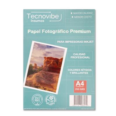 PAPEL FOTOGRAFICO TECNOVIBE A4 X 20 210grs BRILLANTES