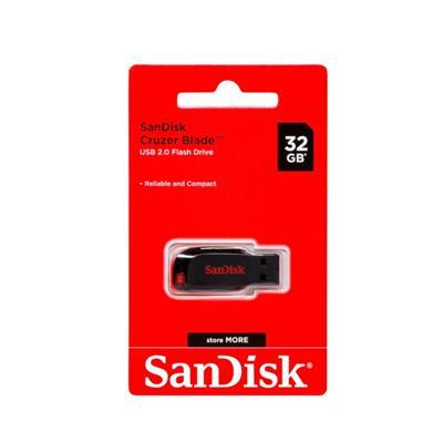 PEN DRIVE SANDISK 32GB CRUZER BLADE USB 2.0