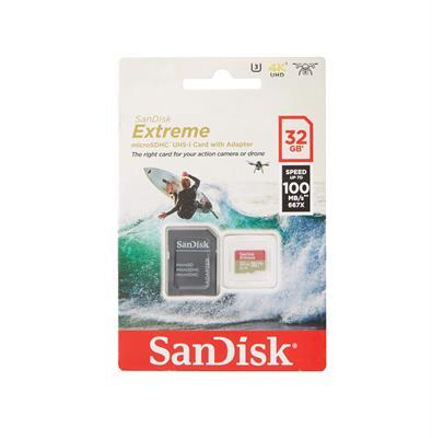 MEMORIA MICROSD SANDISK 32GB EXTREME 100MBPS FULL HD