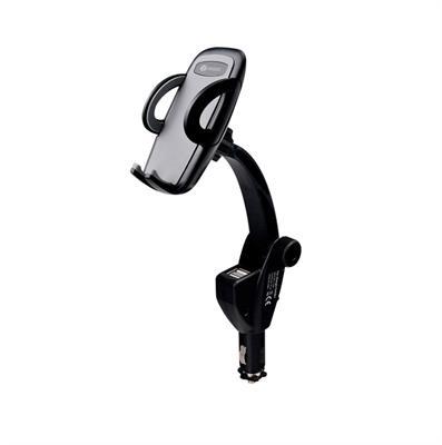 SOPORTE CELULAR AUTO CON CARGADOR X2 USB OBOX-CC4