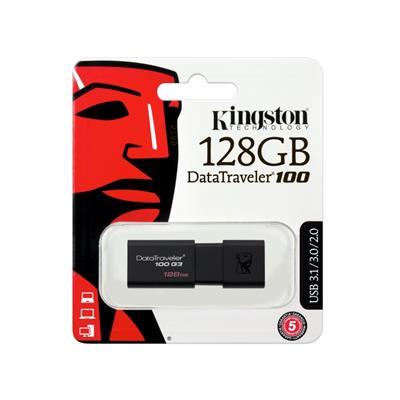 PEN DRIVE KINGSTON 128GB DATA TRAVEL 100
