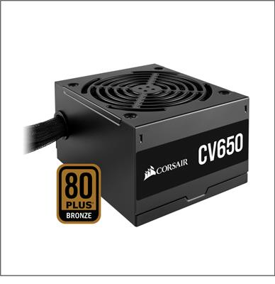 FUENTE CORSAIR CV650W 80PLUS BRONZE