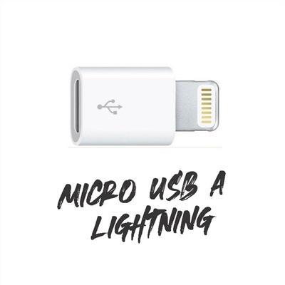 ADAPTADOR P/IPHONE LIGHTINING M A MICRO USB