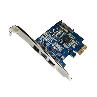 PLACA FIREWIRE PCI-e A 3 PUERTOS 6 PINES  1394B