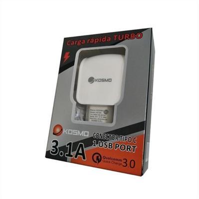 CARGADOR MICRO USB 220V 3.1A  KS-18I KOSMO