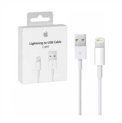 CABLE CARGADOR IPHONE APPLE LIGHTNING-USB 1 MTS