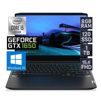 NOTEBOOK GAMER LENOVO INTEL i5-10300 - 8GB - SSD 128GB - 1TB - GTX 1650 - 15.6