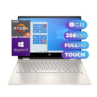 NOTEBOOK TACTIL HP PAVILION X360 - AMD RYZEN 5 - SSD 256GB - 8GB - 13.8