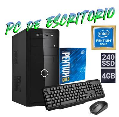 PC DE ESCRITORIO INTEL - PENTIUM G6400 - 4GB - DISCO SOLIDO 240GB - WIFI - GABINETE KIT - FREEDOS