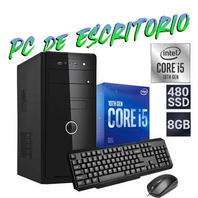 PC DE ESCRITORIO INTEL i5 10400 - 8GB - DISCO SOLIDO 480GB - GABINETE KIT IC3  - FREEDOS