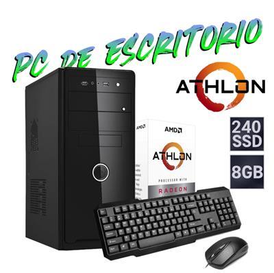 PC DE ESCRITORIO AMD ATHLON 320GE - 8GB - SSD 240G