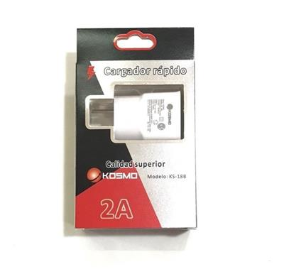 CARGADOR MICRO USB KOSMO 2A KS-18B 220v