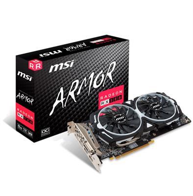 PLACA DE VIDEO MSI RADEON RX580 ARMOR 8GB OC DDR5