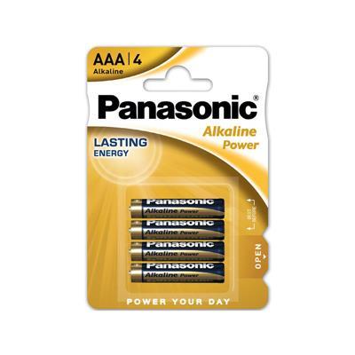 PILAS ALKALINE PANASONIC AAA X 4 UNID