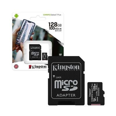 MEMORIA MICROSD KINGSTON 128GB 100MB/S CANVAS SELECT PLUS