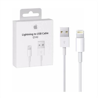 CABLE CARGADOR IPHONE APPLE LIGHTNING-USB 2 MTS