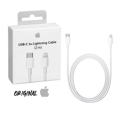 CABLE CARGADOR APPLE IPHONE LIGHTNING A  USB-C 2 MTS