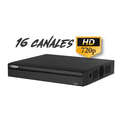 DVR DAHUA DHI-HCVR4116HE-S2 16 CANALES 720p 1HDD4 AUDIO +ALARMA