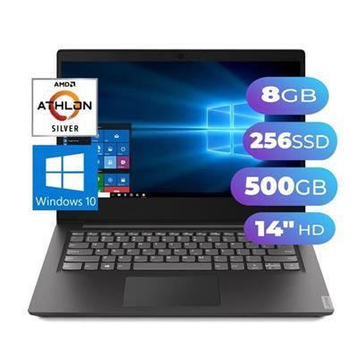 NOTEBOOK LENOVO IP S145 AMD 3020e - 8GB - SSD 256GB - 500GB - PANTALLA 14